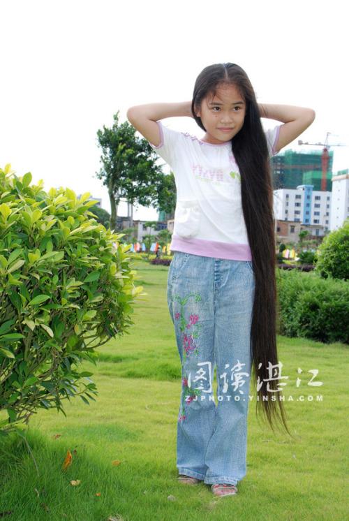 岁女孩头发_