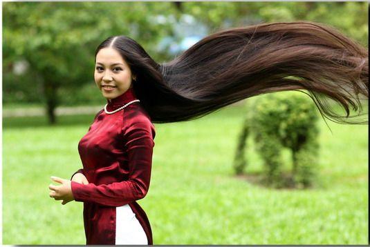 飞舞的越南长发