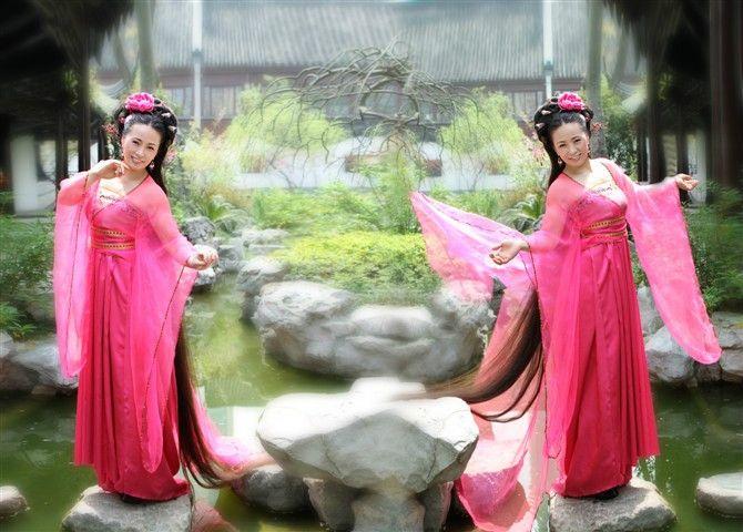 山菊花古装照; 古装摄影·古装美女;