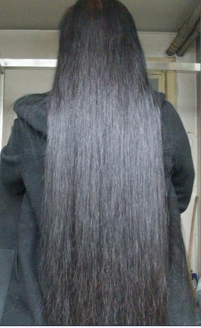 一年头发能长多长图分享展示图片