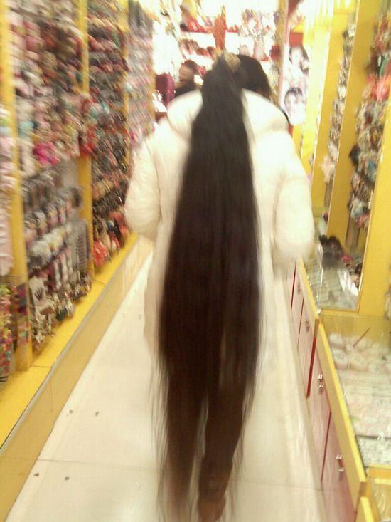 偶遇长发女