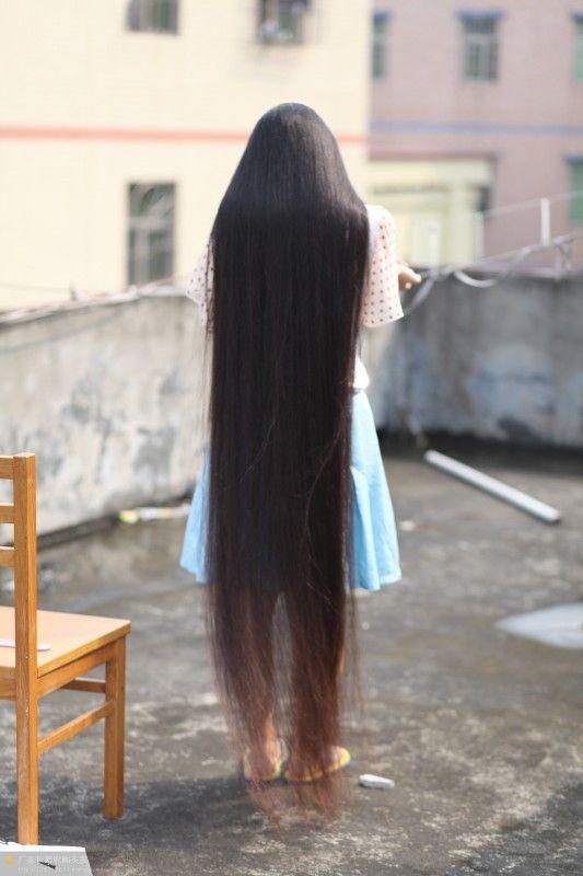 漂亮的超长发 中国长发网