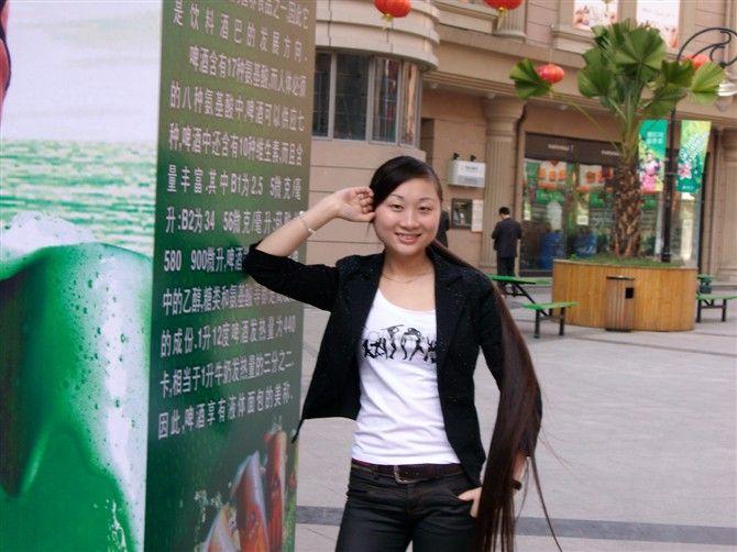 如花美女长发飘飘 中国长发网